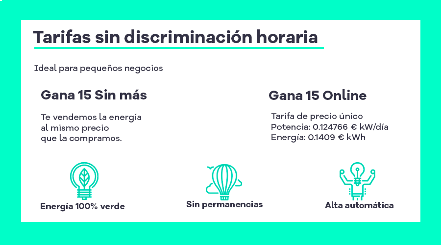 tarifas luz sin discriminación horaria